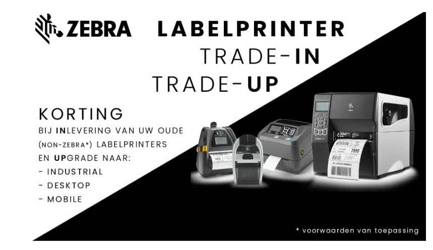 Zebra labelprinter actie